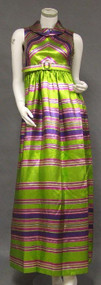 FUN Lime, Hot Pink & Purple Sarmi Evening Gown