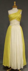 SUPERB Two Toned Asymmetrical 1940's Evening Gown