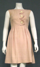 Pale Lavender Silk Sarmi 1960's Day Dress