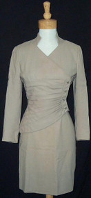 Exquisite Late 50's Lilli Ann Pleated Asymmetrical Suit
