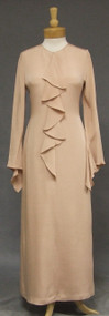 Elegant Bill Blass Flesh Toned Silk Evening Dress