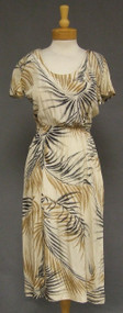 BH Wragge Tropical Printed 1950's Dress Blouson Bodice