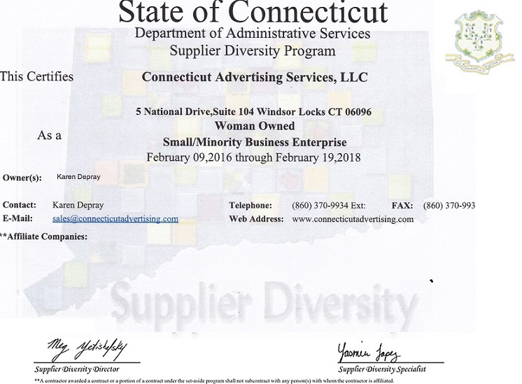 Supplier Diversity Program Certificate