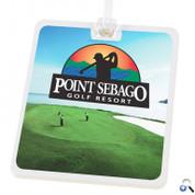Rectangle Golf Tag - 4c Digital Imprint - DPGT34