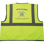 Safety Works Hi-Viz Lime Green Class 2 Safety Vest - 1914-05