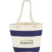Capri Stripes Cotton Shopper Tote - 7900-40