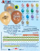 "11"" Decorator Latex Balloons - 63972-1"