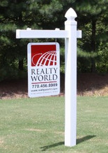 """60"""" x 40"""" Overall Size Heavy Duty Plastic Traditional Single Arm Real Estate Sign Post-FREE SHIPPING"""