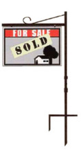 "36"" x 40"" Sign Size Uneaque Series In-Ground Metal Crane Style Real Estate Sign Frame"