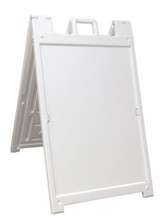 "24"" x 36"" Insert DELUXE Quick-Change Signicade Plastic A-Frame Sign. Color: White - FREE SHIPPING"