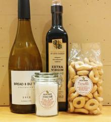 Items including white wine for Tantalizing Housewarming Gift Basket