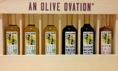 An Olive Ovation 6 Bottle Sampler Set, 50 ml