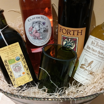 Wines paired with olive oil