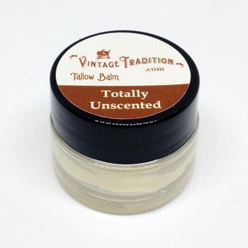 Sample - Totally Unscented Tallow Balm, 1/4 fl. oz. (7 ml)