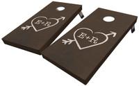 Arrow and Heart Custom Cornhole Board Set