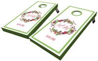 Floral Wreath Custom Cornhole Boards