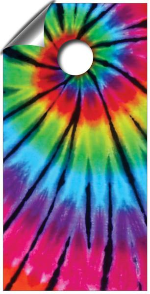 Tie dye cornhole board wraps.