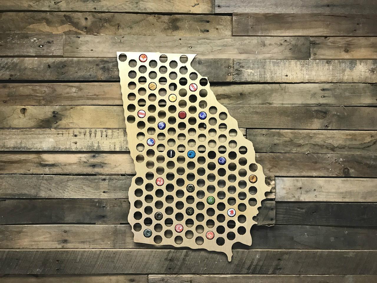 Beer Cap Map - Indiana beer cap map