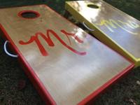 Mr. and Mrs. Custom Cornhole Board Set