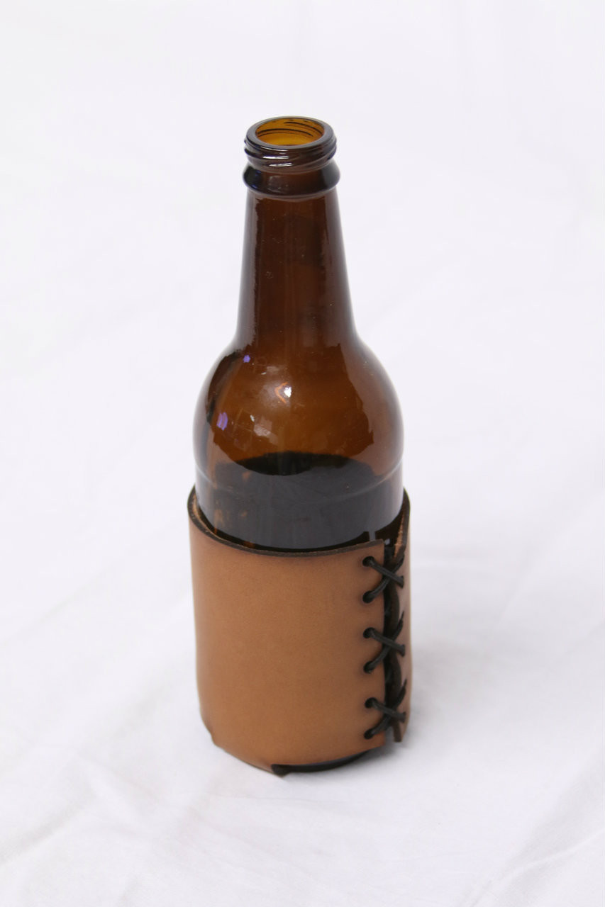 Bottle and Can Leather Koozie