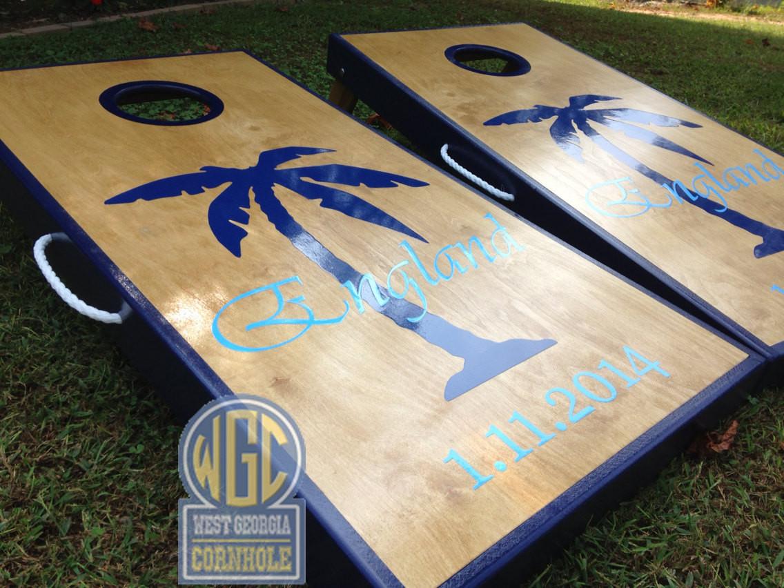 Palm Tree Custom Cornhole Boards West Georgia Cornhole
