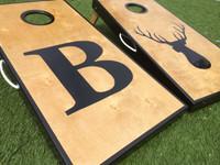 Letter and Logo Cornhole Board Set