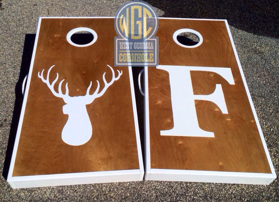 Letter And Logo Cornhole Board Set West Georgia Cornhole