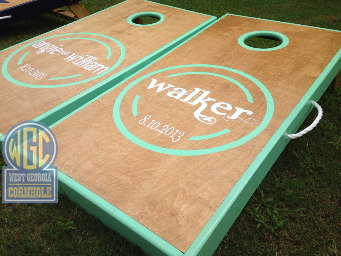 Quot Walker Quot Wedding Cornhole Board Set West Georgia Cornhole