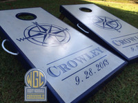 """Crowley"" Design Custom Cornhole Boards"