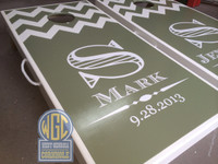 Half Chevron Formal Custom Cornhole Boards