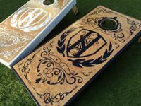 Decorative Crest Custom Cornhole Board Set