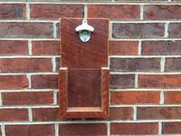Custom Rustic Wall Hanging Bottle Opener: Reclaimed Barnwood