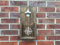 Compass Design Wall Hanging Bottle Opener
