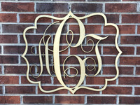 Square and Circle Wooden Monogram Hanger