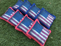 Vintage American Flag Cornhole Toss Bags