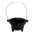 "3"" Black Incense Pot"