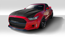 2017 Ford Mustang  Kit-2015-2017 Ford Mustang Duraflex Grid Wide Body Flares Kit - 17 Piece - Includes Grid Front Bumper (112563), Grid Rear Bumper (1