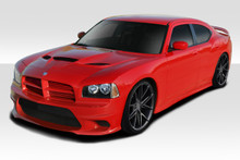 2010 Dodge Charger  Kit-2006-2010 Dodge Charger Duraflex Hellcat Look Complete Kit - 5 Piece - Includes Hellcat Look Front Bumper (113290) Hellcat Loo
