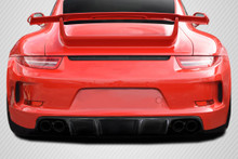 2013 Porsche 991  Rear Bumper-2012-2015 Porsche 911 Carrera 991 Carbon Creations DriTech GT3 Look Rear Bumper ( includes reflectors ) - 1 Piece
