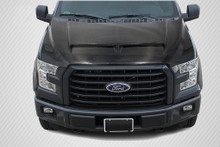 2015 Ford F150  Hood-2015-2018 Ford F-150 Carbon Creations GT500 Hood - 1 Piece