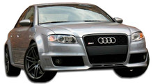 2006 Audi A4 4DR Kit-2006-2008 Audi A4 4DR Duraflex RS4 Wide Body Kit - 9 Piece - Includes RS4 Front Bumper Cover (105317) RS4 Side Skirts Rocker Pane