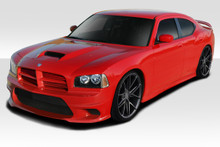 2010 Dodge Charger  Kit-2006-2010 Dodge Charger Duraflex Hellcat Look Complete Kit - 4 Piece - Includes Hellcat Look Front Bumper (113290), Hellcat Lo