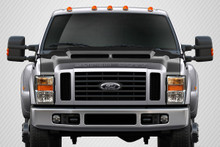 2008 Ford Super Duty  Hood-2008-2010 Ford Super Duty F250 F350 F450 Carbon Creations CVX Hood - 1 Piece