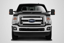2011 Ford Super Duty  Hood-2011-2015 Ford Super Duty F250 F350 F450 Carbon Creations GT500 Hood - 1 Piece