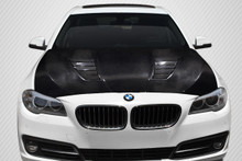 2012 BMW 5 Series 4DR Hood-2011-2016 BMW 5 Series F10 4DR Carbon Creations DriTech Agent Hood - 1 Piece