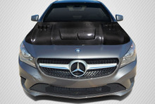 2015 Mercedes CLA  Hood-2014-2016 Mercedes CLA Class Carbon Creations DriTech Eros Version 1 Hood - 1 Piece