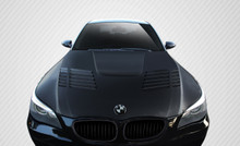 2007 BMW 5 Series 4DR Hood-2004-2010 BMW 5 Series E60 4DR Carbon Creations GTR Look Hood - 1 Piece