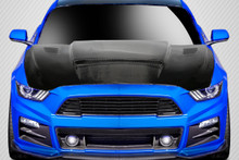 2015 Ford Mustang  Hood-2015-2017 Ford Mustang Carbon Creations CVX V2 Hood - 1 Piece