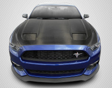 2017 Ford Mustang  Hood-2015-2017 Ford Mustang Carbon Creations DriTech MK7 Look Hood - 1 Piece