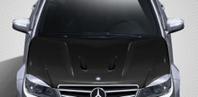 2009 Mercedes C Class  Hood-2008-2011 Mercedes C Class W204 Carbon Creations Black Series Look Hood - 1 Piece